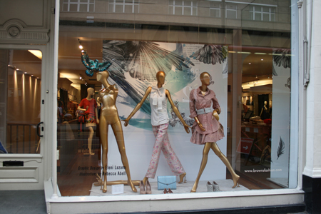 Ex Aoi Intern Rebecca Abell Window Display For Browns