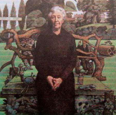 Portrait by Tom Adams of Agatha Christie[1]