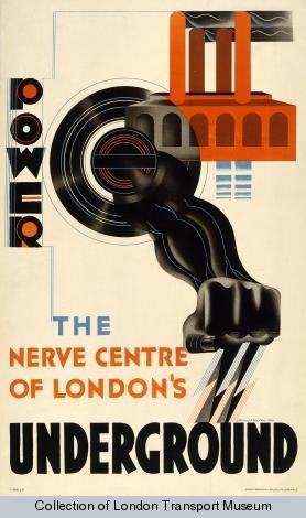 Edward McKnight Kauffer - 'Power - The Nerve Centre of London's Underground'