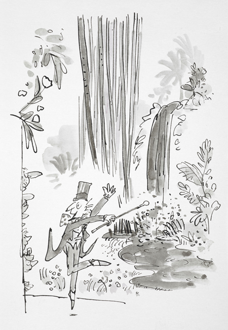 Illustration by Quentin Blake for Roald Dahl's Charlie and the Chocolate Factory
