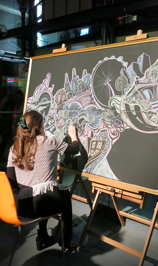 Live drawing by AOI Member Lizzie Mary Cullen