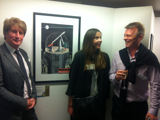 Sam Mullins from LTM (left) and Andrew Coningsby, AOI, congratulate Eleanor Taylor