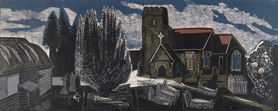 Edward Bawden, Lindsell Church, Essex, 1959