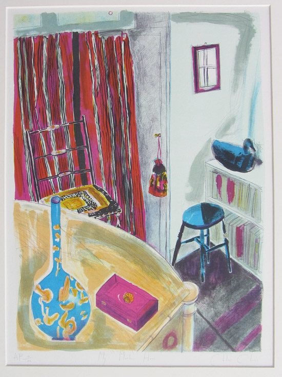Chloe Cheese,_My Mothers House, lithograph