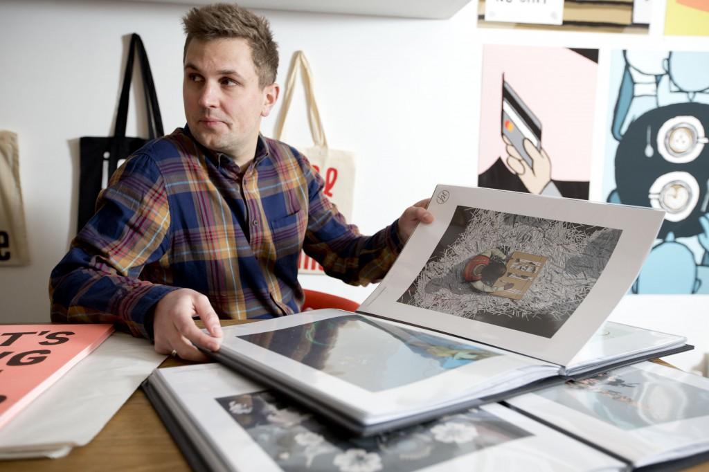 Tom with the portfolios