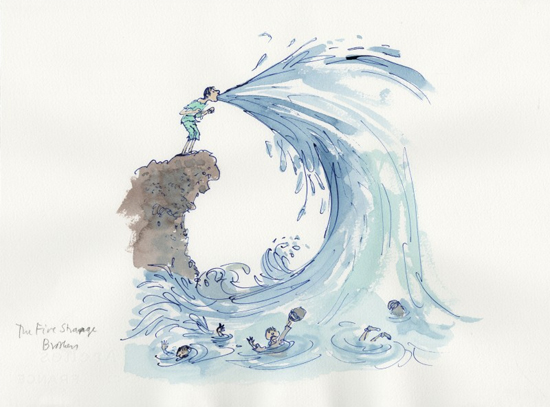 From 'Quentin Blake's Magical Tales' by John Yeoman (Pavilion Books, 2010)
