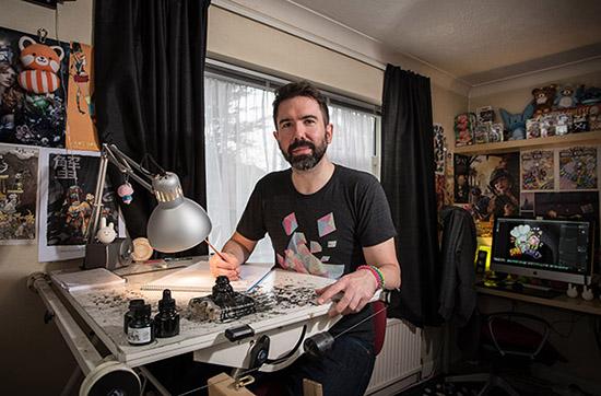 Jamie-Smart-in-the-studio-DACS-Brian-Benson-550px