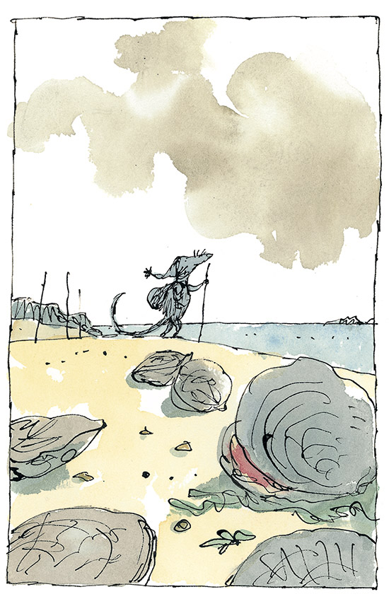The Rat and the Oyster from Fifty Fables of La Fontaine. (c) Quentin Blake, 2013