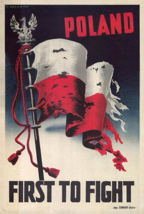 Marek Zulawski, Poland First to Fight, 1939, poster, Private Collection, courtesy the artist's estate